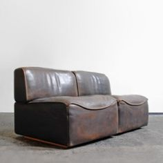 vintage 1960's leather sectional