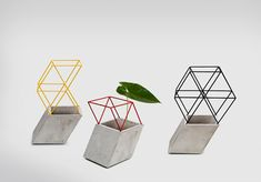 Thinkk Studio. 4 most favorite projects., concrete, wood, contrast, minimalist, simple, truss vases