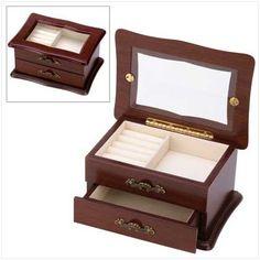Keepsake Window Jewelry Box Organizer Storage Container