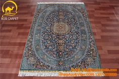 4x6ft handmade silk carpet modern Persian pattern. The black slim winding on the carpet. The price for this double knots new design only need USD$45. contact me for more details.