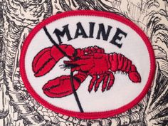 Maine Vintage Travel Patch by Voyager by HeydayRetroMart on Etsy, $6.00