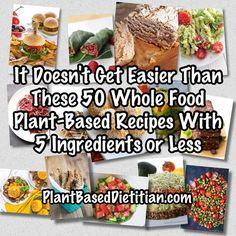 Amazing roundup! Tons of 5-ingredient whole food plant-based recipes!!!