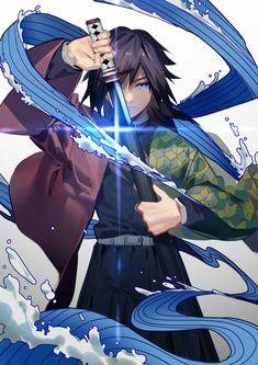 Tomioka Giyuu - Kimetsu no Yaiba - Image - Zerochan Anime Image Board Manga Anime, Fanarts Anime, Anime Demon, Otaku Anime, Anime Characters, Anime Art, Manga Girl, Anime Girls, Demon Slayer