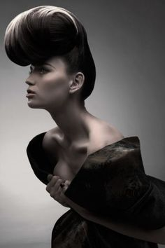 Structured Opulence by the Rush Artistic Team, Photos: Stuart Weston #hair #shape #updo #inspiration | See more on www.salonmagazine.ca