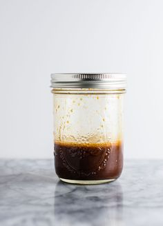 3 ingredient homemade stir fry sauce recipe made with soy sauce, sesame oil, and cornstarch. A fool proof recipe for delicious thick stir fry sauce! (vegan, gluten free)