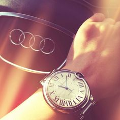 Audi with my favourite watch from Cartier
