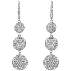 GABRIELLE'S AMAZING FANTASY CLOSET | Pavé Diamond White Gold Ball Drop Earrings | You can see the rest of the Outfit and my Remarks on this board. - Gabrielle