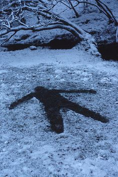 Andy Goldsworthy, Snow Shadow Brough, Cumbria 13th January 1985