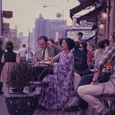 U.S. Greenwich Village, NYC, c.1964.             The dress is to die for........