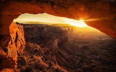 Zachód, Słońca, Kanion