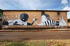 Les nouvelles Peintures murales chaleureuses de Alex Senna via @chambre237