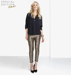 gouden pailletten legging
