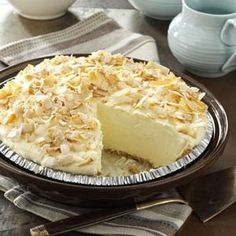 No Bake Coconut Pie . . . doesn't get easier than this!