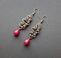 Made By My Hands: First chainmail earrings