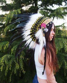 Handmade native american headdress
