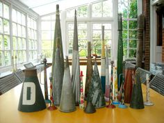 #MyMagnificentObsessions Blowing my own trumpet; Some of these are for parties, some for boating and some are for cooking, but make a great array of conic towers