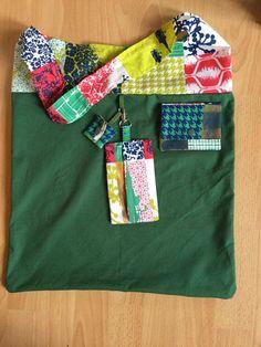 Annies DIY: Einkaufsset am Freutag Stofftasche, Stoffbeutel, Tasche, bag, tote, marketbag, nähen, sew, Geschenk, gift, present, Plastik vermeiden, no plastik, Stoff, fabric, cloth, Baumwolle, grün,