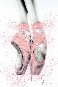 pointe shoes A ballet inspired artwork I created with charcoal and acrylics on canvas. I find dance to be most beautiful and elegant, leading to an interest to express in art. Ballet Shoes Drawing, Art Ballet, Ballet Drawings, Ballerina Painting, Dancing Drawings, Ballet Dancers, Ballerina Drawing, Drawings Of Ballerinas, Shoe Drawing