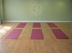 yoga studio colors and wall design