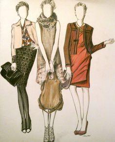 deviantART: More Like fashion illustration 5 by ~nikes
