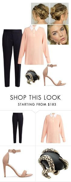 """""""TDG #8"""" by tynabrookler ❤ liked on Polyvore featuring STELLA McCARTNEY, Iris & Ink and Roberto Cavalli"""