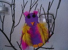 Herfstvakantie: met (klein)kinderen kleurrijke uil knutselen
