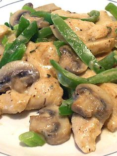 Chicken Breast Strips with Mushrooms Recipe