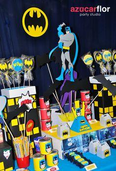 AZUCAR FLOR party studio: BATMAN regresa