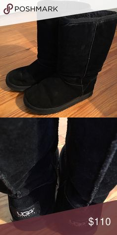 "Black UGG's Perfect condition black UGG's. 12"" tall. UGG Shoes Winter & Rain Boots"