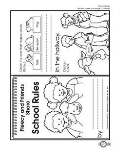 School Rules Worksheets Elementary | School Worksheets