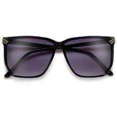 Women's Retro Appeal Thin Light Angular Squared Shape Sunglasses – Sunglass Spot