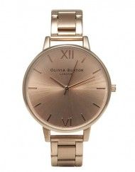 Olivia Burton Big Dial Rose Gold bracelet watch
