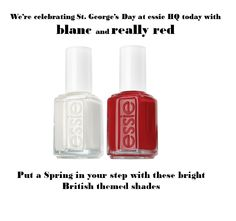 Happy St George's Day from the essie team! #StGeorgesDay #Red #White