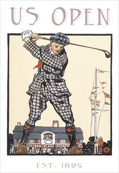 Golf poster - Vintage US Open print- 13x19 -Golf print. $21.50, via Etsy.