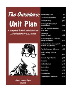 "This is a complete 3-week unit. I have used these plans successfully to teach ""The Outsiders"" in both 7th and 8th grades, as well as Summer School and Reading AIS."