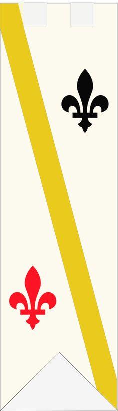 Simple design incorporating Fleur De Lis (actually Canadian in this case)