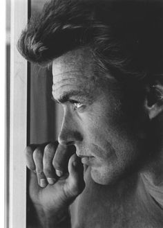 Portrait of Clint Eastwood, the man was distractingly handsome.