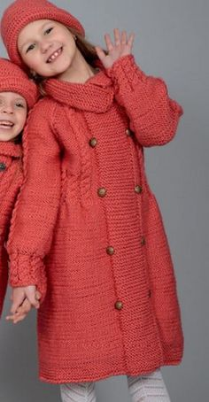 Navy Heather or Heather dark c Knitting Baby Girl, Knitting For Kids, Baby Knitting Patterns, Sweater Coats, Knit Cardigan, Layette Pattern, Discount Womens Clothing, Knitted Coat, Coat Patterns