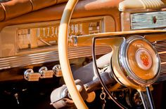 1942 Packard Darrin Convertible Victoria Steering Wheel Photograph