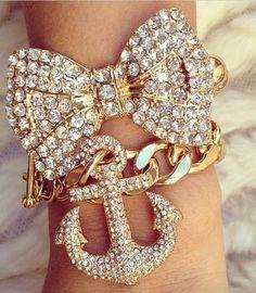 Anchor & Bow Bracelets  ❤️⚓️