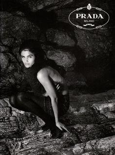 Helena Christensen | For Prada Campaign | Fall 1990 #helenachristensen #prada #1990