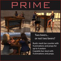 Rustic bar set by PRIME