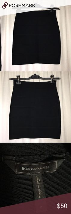 BCBGMaxAzria Black Bandage Skirt Like new. Size M. BCBGMaxAzria Skirts Mini