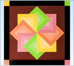 Pastel Star Spin Barn Quilt - 2 foot square - Product Image