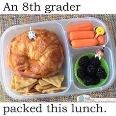 Healthy Lunch For Teens, Kids Packed Lunch, Kids Lunch For School, Healthy School Lunches, Healthy Snacks, Healthy Recipes, Detox Recipes, Lunch Ideas For Teens, College Lunch