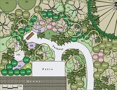 sample landscape plan with native plants