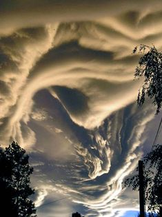 "Asperatus Clouds - Undulatus asperatus is a cloud formation, proposed in 2009 as a separate cloud classification by the founder of the Cloud Appreciation Society. The name translates approximately as ""roughened or agitated waves."" The clouds are most closely related to undulatus clouds. Although they appear dark and storm-like, they tend to dissipate without a storm forming. The ominous-looking clouds have been particularly common in the Plains states of the United States."