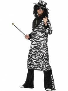 Pimp Daddy Costume includes long coat, trousers and hat at funnfrolic.co.uk - £28.79