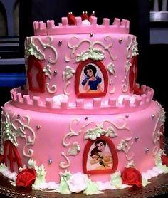 ... Rosa Prinzessin, Disney Prinzessinnen, Disney Kuchen, Schöne Kuchen,  Tolle Kuchen, Kuchen Hochzeitstorte, Gebäck, Kuchen, Küchen, Bastelei