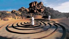 Very striking image of the Labyrinth at The Golden Door at The Boulders Resort in Arizona